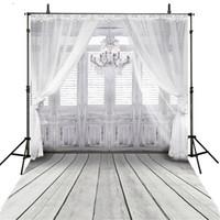 الفينيل النسيج داخلي الثريا خلفية أبيض رمادي الخشب باب الطابق التصوير خلفية لينة الستار استحمام الطفل الوليد تصوير الدعائم