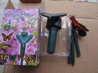 Freier Verschiffengroßverkauf 144pcs Sonnenenergie-Fliegen-Schmetterlings-Garten-Yard-Dekoration Solarbutterfliege mischte Modelle, Gartenvogelspielzeug