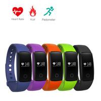 Smart Band Pulsmesser V05C Armband Sport Smart Watch Bluetooth Wasserdicht Armband Schrittzähler Fitness Tracker VS ID107 Fünf Farben