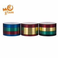 높은 품질 52 * 35mm 4 부품 크롬 분쇄기 색깔 아연 합금 허브 분쇄기 소매 초본 분쇄기 소매에 대 한