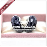 S925 gioielli in argento sterling moda Le stelle brillano perline di vetro di Murano Fit europeo fai da te pandora bracciali collana di fascino