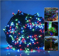Durch dhl led string 300 400 500LED Dekoration Licht Solar Lichterketten Solar Fairy Wasserdichte Lichterkette für Garden Home Xmas Party Decora