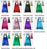 11colours Double Side Cape and Mask with 2 different colors ...
