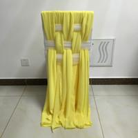 Eleganti pianto di sedia in chiffon colori personalizzati moda fashion party deocrations per spose festa da sposa sedia da sposa coprisedili