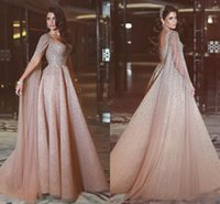 2017 Arabic Evening Gowns A Line Sweetheart Sweep Train Long...