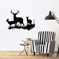 2017 Hot Sale Buck Doe Deer New Design Family Vinyl Wall Sti...