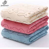 Wholesale- Pudcoco Cute Rabbit Soft Microfiber Baby Infant N...