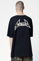 fear of god metallic t shirt men oversize short sleeve cotto...
