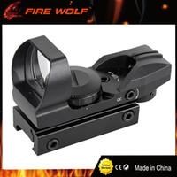 FIRE WOLF 1X22 Red Green Dot Reflex Sight Scope Holográfico táctico 4 retículos proyectados para la caza