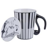 Tasse à thé de tasse de café de clavier en céramique créative avec couvercle comme cadeau de cadeau de cadeau de Saint-Valentin