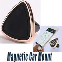 Suporte magnético do telefone do carro do respiradouro de ar da montagem do carro para o iPhone 6 6s Um ímã reforçado da montagem da etapa do um com caixa de varejo
