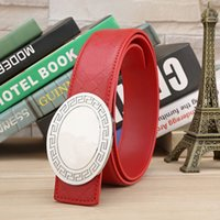 new cowhide genuine leather belts for men and women cowboy M...