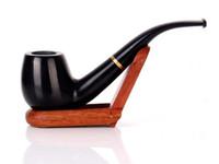 Abanoz Abanoz Katı Ahşap El Sanatları Hediye Boru Pürüzsüz Artı Daire Dekoratif Sandal Kavisli Çekiç Vintage Sigara