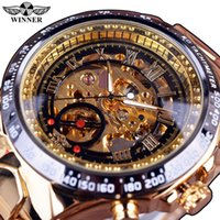 Winner Classic Series Sport Design Luxury Gold Watch Stainle...