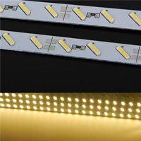 Edison2011 супер яркий жесткий жесткую панель свет DC12V 100см 72led SMD 7020 алюминиевого сплава светодиодные полосы света для кабинета дисплея ювелирных изделий Бесплатная доставка DHL