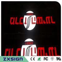 Außenwerbung beleuchtete Acrylkanalbuchstaben, Letras luminosas, LED-Zeichen für Geschäft, Firmenname