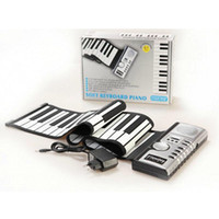 61 Keys Flexible Synthesizer Hand Roll up Roll- Up Portable U...