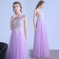 SSYFashion New Sweet Light Purple Lace Evening Dress The Bri...
