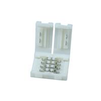 20 teile / los RGB-LED-Streifen-Stecker 4Pin 10mm LED-Streifen-Steckverbinder PCB-Platinen-Drahtanschluss für 5050 RGB-Farbstreifen