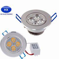 AC 85~265V 110V 220V Dimmable 12W Led Downlight встраиваемый потолочный светильник чистый / теплый белый светодиодный светильник с подсветкой CEROHS DHL Бесплатная доставка