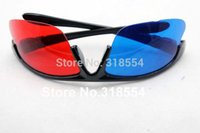Frete grátis 160pcs / lot moldura elegante Reuseable plástico vermelho azul ciano óculos 3D Meio Quadro lente de vidro 0001