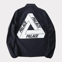 PALACE Black Reflective Jacket Mens Windbreaker Impermeável Outdoor Hiking Skiing Jacket Coat Hip Hop Trench Coat Masculina Jaqueta YBG0303