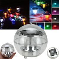 Lampada a LED galleggiante impermeabile a energia solare a 7 colori che cambiano globo galleggiante Piscina Vasca da bagno Prato Balcone Festa di Natale di Natale