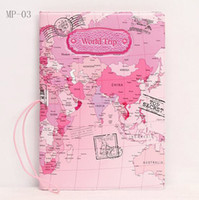 100pcs 2017 New Arrival World Trip Map Travel Passport Holde...