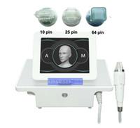 64 Pins 10 Pins 25 Pins Bir Kolu Ile 3 İpuçları Mikro İğne Kesirli RF Yüz Bakımı Vücut Zayıflama Streç Işaretleri Temizleme Makinesi