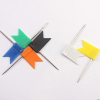 200 pcs  lot multi- color flag shaped map push pins, flag thu...