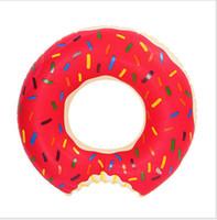 60 centímetros do bebê de Verão Água Brinquedos Donut Natação flutua crianças bóia inflável natação Anel Piscina flutua morango Donut nadar anel