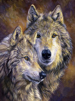Diamond Painting, Wolf, Cross Stitch, 5D, DIY, Animal, Needlework,...