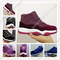 2017 Cheap New Retro 11 Velvet Heiress Night Maroon Mens Wom...