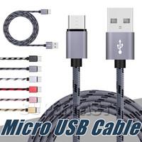 Standart Hızlı Şarj USB Kablosu 6FT 3FT USB Tip C Kablo Data Sync Samsung S9 Moto LG Android Şarj için Şarj Kabloları Kabloları