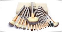Newest 12 18 24pcs Makeup Brush set Persian Fiber Wool Cream...