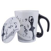 Neuheit Stile Ballett Tänzer Keramik Persönlichkeit Milch Saft Zitrone Becher Kaffeetassen Tee Tassen Mit Deckel