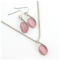 Conjunto de pendientes de collar Conjunto de 2 piezas Collar de accesorios de vestir Colgante de cadena de moda Ropa Accesorios