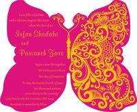 """Acryl Hochzeitseinladungen, maßgeschneiderte Schmetterling Hochzeit lädt, Acryl Hochzeitseinladungen, Acryl-Einladungen Karte (5,5 """"x4,5"""" x1 / 12 """")"""