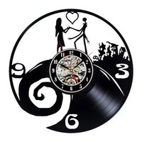 ightmare Before Christmas Theme Vinyl Wall Clock for Lovers