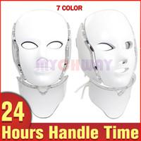 الجلد العناية الشخصية 7 ألوان LED الفوتون الضوئي PDT تجديد الجلد تندب تصغير قناع FacialNeck الجمال