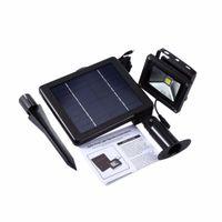 20pcs高品質合金3W穂軸LEDフラッドライトIP65防水屋外太陽電池パネルパワーソーラーウォールランプライト