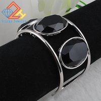 Big Cuff Bracelets For Women New Trendy Plated Round Jewelry...