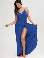 Sexy Beach Maxi Wrap Swimsuit Dress 2017 Estate Donna Spaghetti cinghie Bikini velo Bikini Split Cover Ups Asciugamani