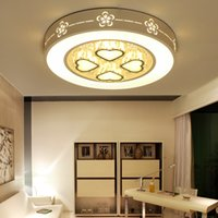 Modern Led Ceiling Light Down Iron Frame Round Lamp Living Room Bedroom 30W 48W 72W