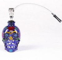 New Skull colored drawing glass bong fab egg Bongs original ...