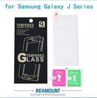 100 adet 9 H Yüksek Premium Ön Temperli Cam Ekran Koruyucu Film Samsung Galaxy Için J Serisi J1 mini Ace J2 J3 J5 2016 J7 + perakende kutusu