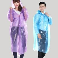 Waterproof Disposable Raincoat PE Unisex Raincoats One- time ...