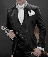 Custom Made New Style Groom Tuxedos Black Best man Suit Mand...