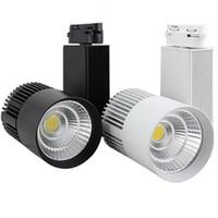 DHL CE RoHS Led-leuchten Großhandel 30 Watt 3000LM COB Führte Schienenlicht Spot Lampe Tracking Soptlight AC 85-265 V Führte innenbeleuchtung