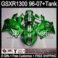 gloss green 8gift For SUZUKI Hayabusa GSXR1300 96 97 98 99 0...